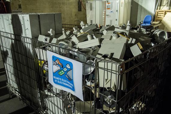 Conteneur de collecte pour le recyclage des DEEE Pro du bâtiment