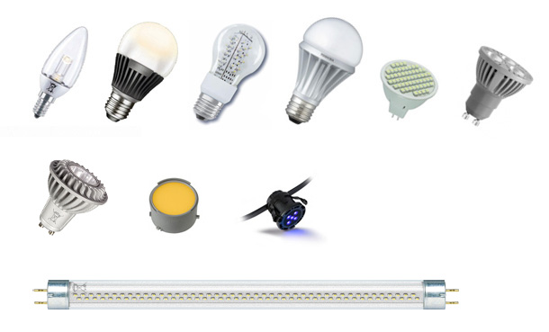 Lampes, tubes et modules à LED