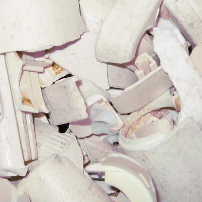 Recyclage des lampes : fractions de plastique