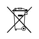Symbole de la poubelle barrée