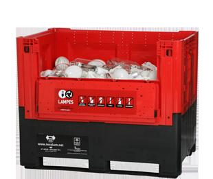 Electriciens recyclez vos tubes et lampes usag es avec for Conteneur pour renovation