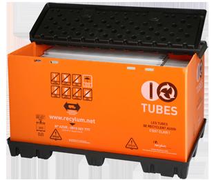 conteneur de recyclage des tubes fluorescents