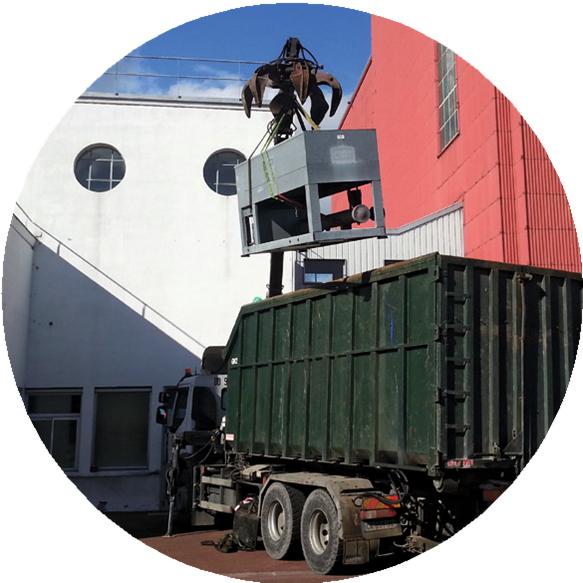 Enlèvement d'un climatiseur issus d'un chantier de rénovation d'un rooftop